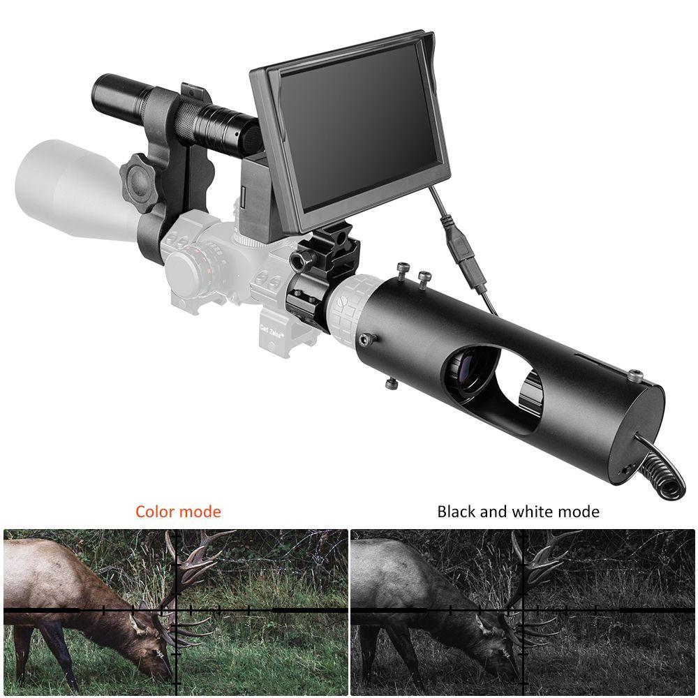 Visione notturna Riflescope di caccia di Scopes Ottica vista tattico 850nm LED infrarossi IR impermeabile caccia di visione notturna dispositivo Camera