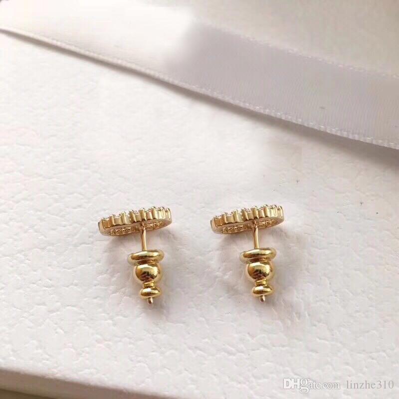 С коробкой верхний бренд имеют марки жемчужные дизайнерские серьги для леди женщины вечеринка свадебные влюбленные подарок помолвки роскошные ювелирные изделия для невесты LZ425