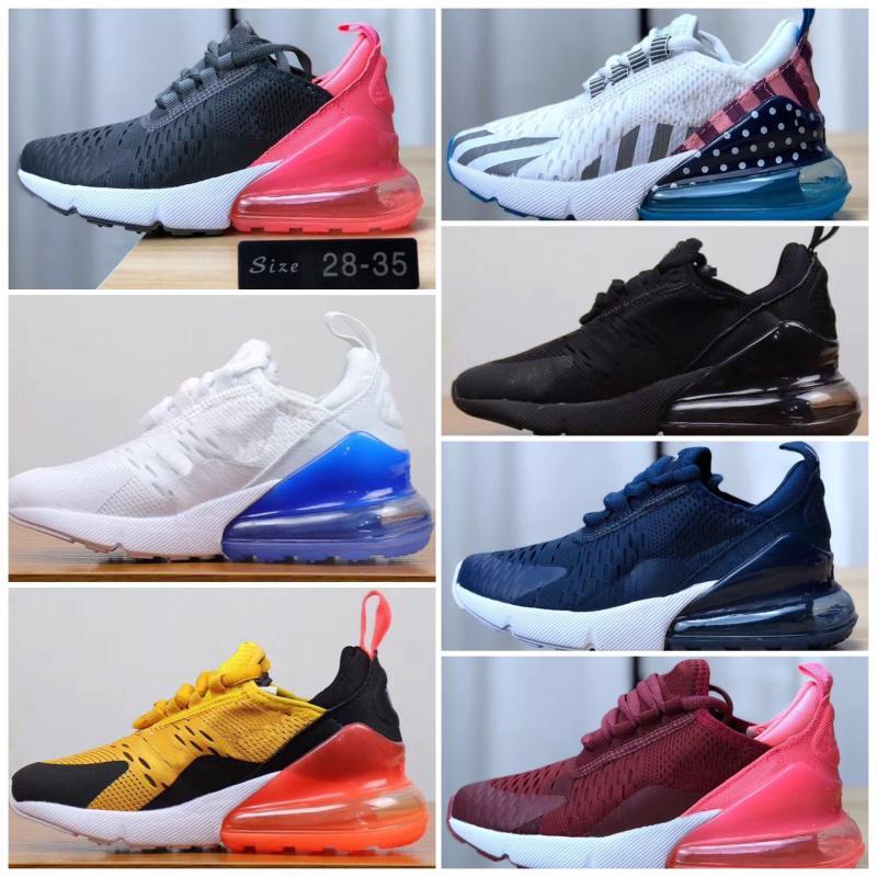 Nike air max 270 Zapatos para niños corredor de la onda nueva del estilo de los zapatos corrientes bebé lindo manera muchacho de la muchacha Trainer zapatillas de deporte de