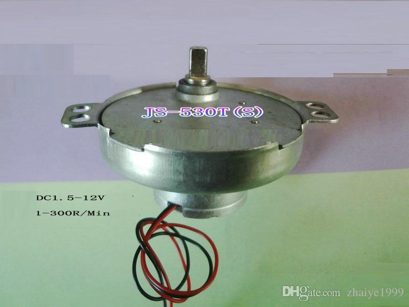 2PCS DC3V-12V 10-100RPM JS-530t DC 기어 모터 사용 에어 컨디셔닝 / 전기 스토브 / 팬