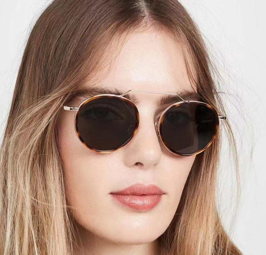 2020 Óculos Cat Eye Mulheres Sun Óculos Eyewear óculos redondos óculos Alloy Quadro Limpar Lens UV400 Sombra Condução One Piece Gafas Espelho
