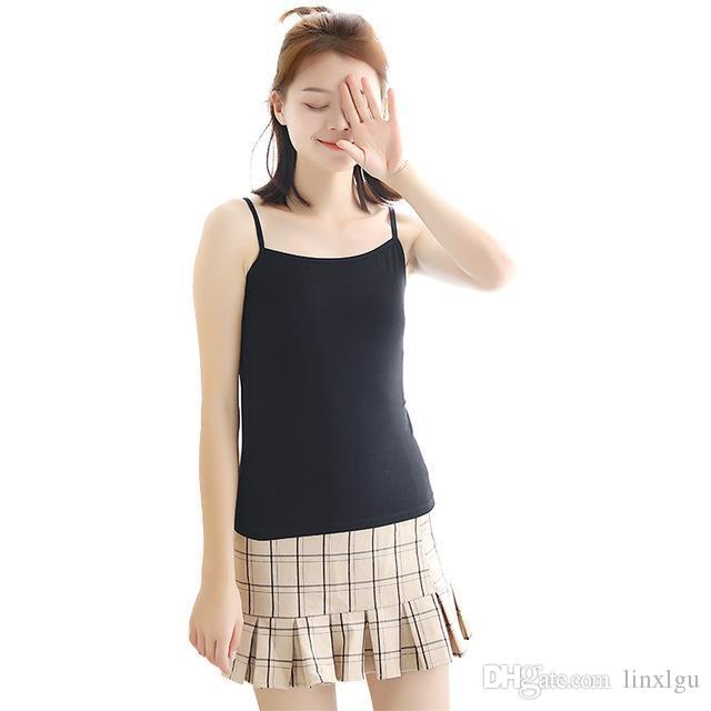 سترة المرأة بروتيل سترة الملابس الداخلية تانك الصيف الصدرية السيدات بلايز مثير أبيض وأسود بلون حار بيع LGU