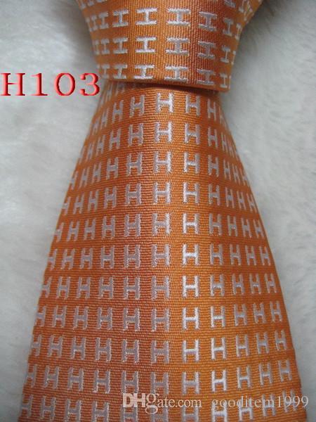 H-103 # 100 % 실크 자카드 직물 수제 남성의 넥타이 넥타이