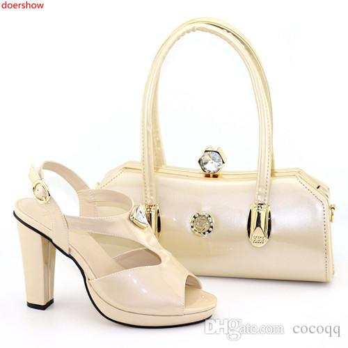 New Fashion Designer Shoes Women Luxury 2018 Italian Shoes and Bags Set Envio Gratis African Women Wedding Shoes and Bag Sets DN1-12