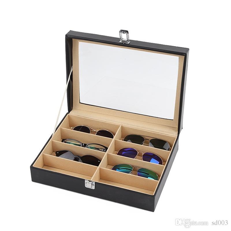24 Caixa Negra 8 Posição L1 Color 85SK Capas Caixas PVC têm material Exibe espelho óculos de sol Chegada óculos exibir novo JWMVV