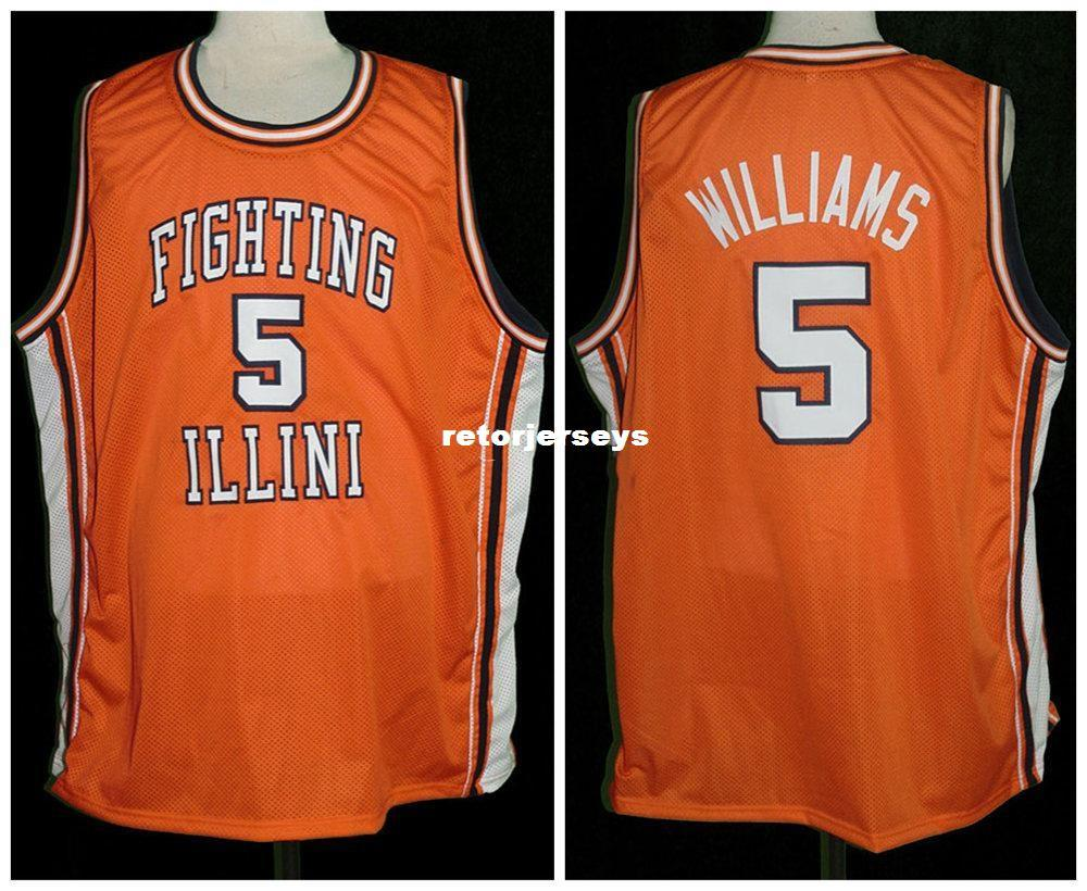 DERON WILLIAMS COLLEGE BASKETBALL JERSEY SEWN NEW ANY SIZE