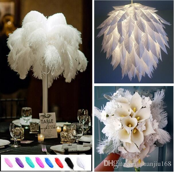 15-20см Красивые дешевые Перья страуса для ювелирных изделий DIY Craft Изготовление свадебного декора свадебное украшение GB834
