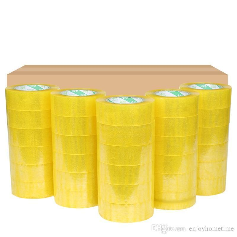 4 rolls Carton Sealing Clear Packing Shipping Box Tape- 2 Mil- 2inch x 33 Yards Office Film Adhesive Tape Gift Ribbon Strapping
