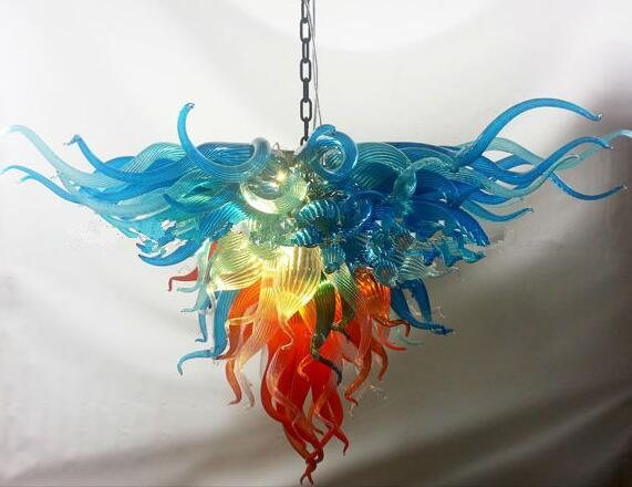 Lampen Kristall Kronleuchter Anhänger Licht Anpassung Kronleuchter LED Birnen Modern Kleine Größe Hand Geblasenes Glas Handelier