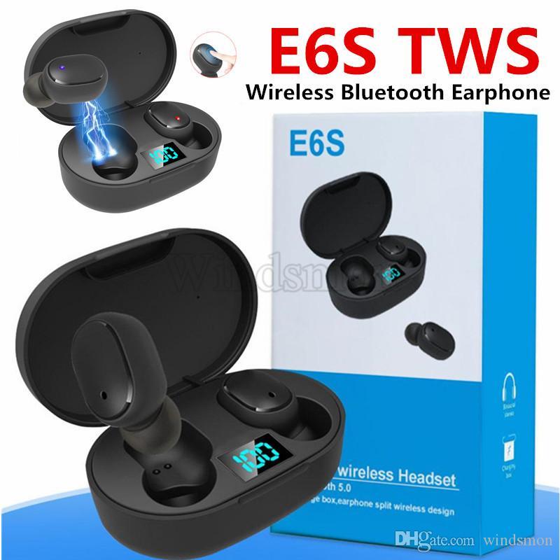 Ecouteur Bluetooth TWS E6S casque Bluetooth 5.0 sans fil Bluetooth casque écouteurs vie étanche avec micro casque 10PCS