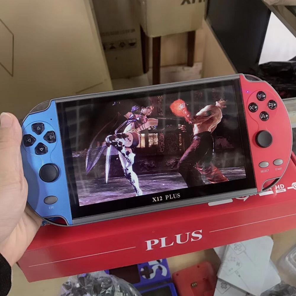 لعبة فيديو وحدة التحكم لاعب X12 زائد المحمولة لعبة وحدة التحكم المحمولة PSP ريترو المزدوج الروك المقود 7 بوصة وشاشة VS X19 X7 زائد