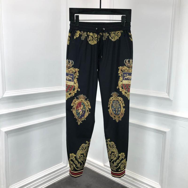 Pantalons A50669 Mode Hommes 2020 la piste célèbre design de style européen de partie Vêtements pour hommes