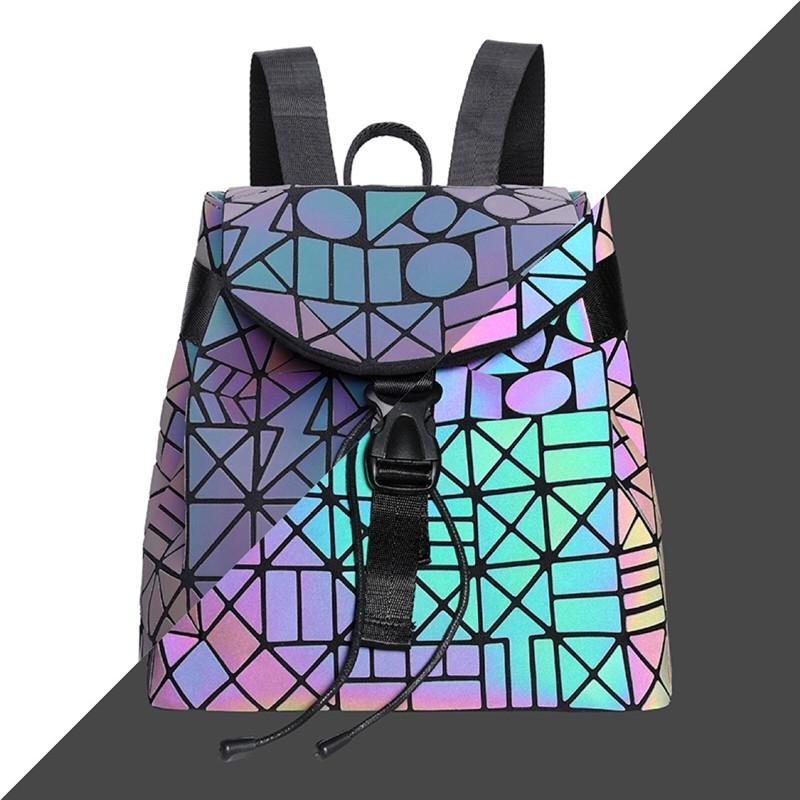 2020 New Hand Bag Women Laser Matte Bags Designer Brand Lady Geometry Diamond Lattice Fold Bag Hologram Backpack #427