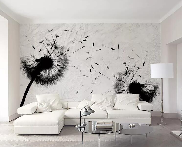 Wall Paper [autoadesivo] 3D Dandelion WG0878 murale muro stampa Sticker per pareti Muzi