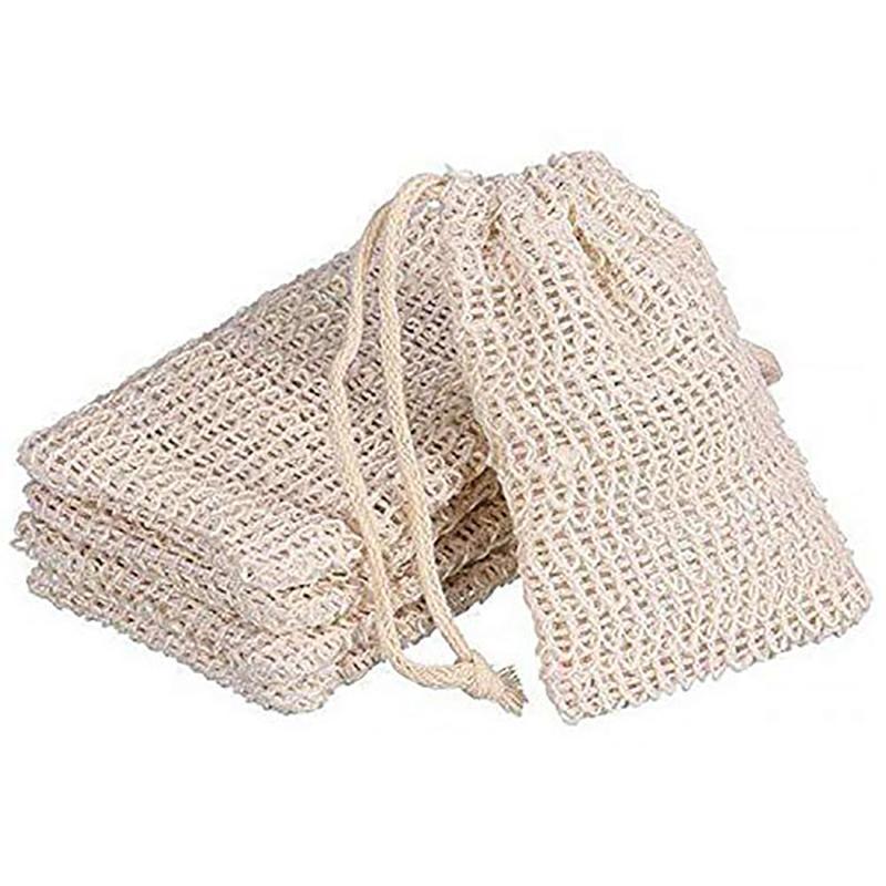 100pcs 9x14cm fazendo bolhas de sabão Saver Sack Soap bolsa de armazenamento saco de cordão Suporte de banheira banho suprimentos Suprimentos WC