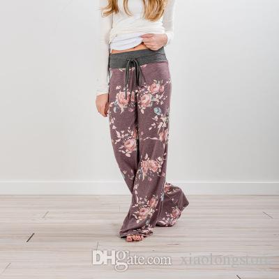 RealLion Geniş Bacak Spor Pantolon Kadınlar Yüksek Bel Stretch Bandaj Flare Pantolon Geniş Bacak Dans Yoga Pantolon Uzun Pantolon