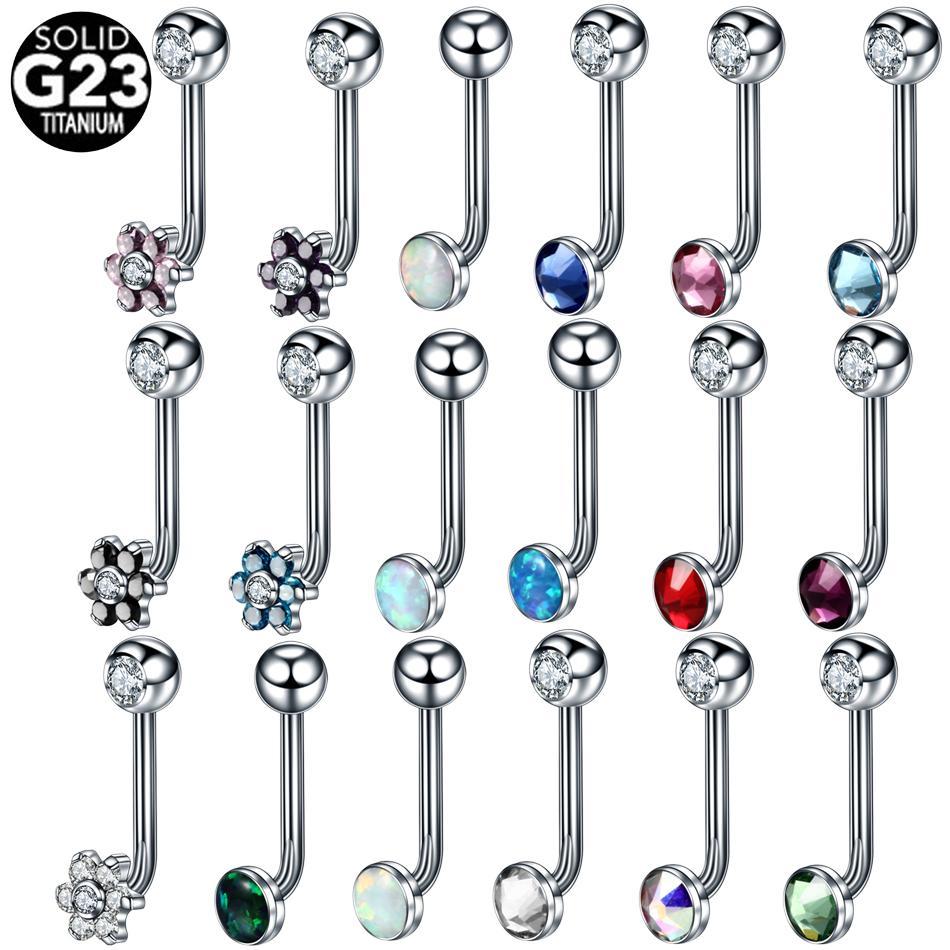 2020 G23 Titanium Crystal Gem Christina Vertical Hood Piercings