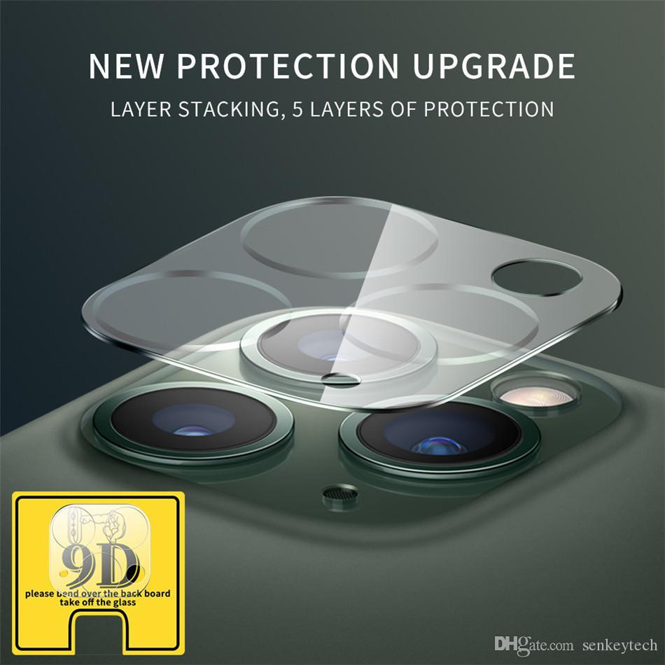 iphone11 / 11 pro / 11 pro max 9D Tam Kapsam Objektif Kamera koruması Kırılmaz Camdan için için iphone Kamera Ekran için