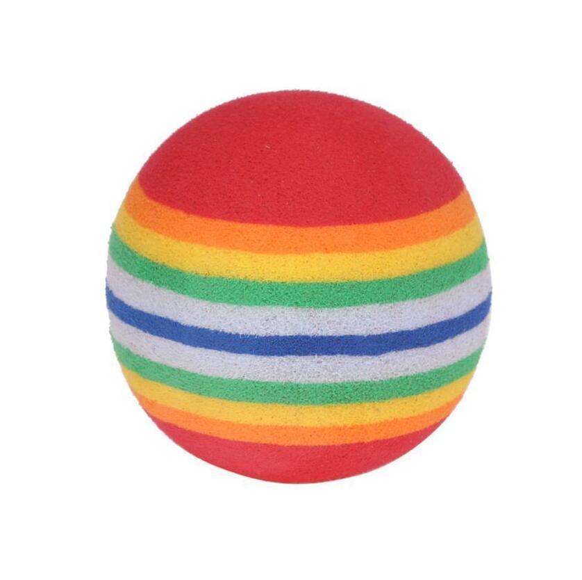 10pcs / lot Super bonito do arco-íris Balls EVA Light Weight e flexível Practice Practice Training Bola Aid brinquedos encantadores 42 milímetros 35 milímetros