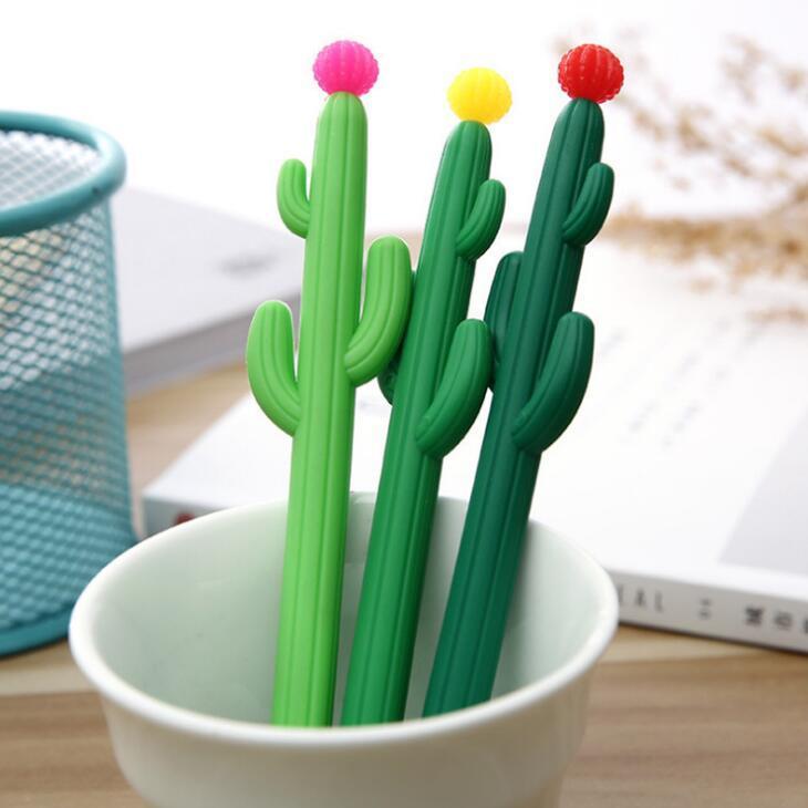 Cactus-Gel-Feder-Schule-Büro Unterschrift Pen nette kreatives Design Studenten-Personality-Schreibens-Briefpapier Freies Verschiffen LX19