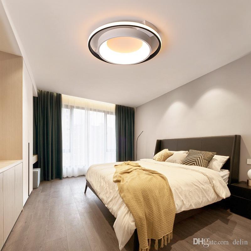 Neuer Ankunfts-Schwarz-Weiß-Finish Moderne LED-Kronleuchter für Wohnzimmer Schlafzimmer Küche Büro Lampe AC85-265V Leuchter-Befestigung
