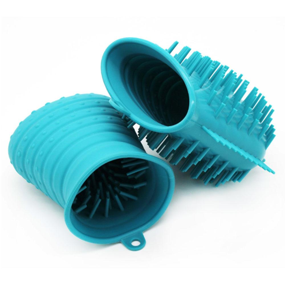 Pet Claw Cleaning Cup Portable Full Silicone Dual Use Paw Claw Massage Cup Feet Washer for Dog Cat Grooming Oc24