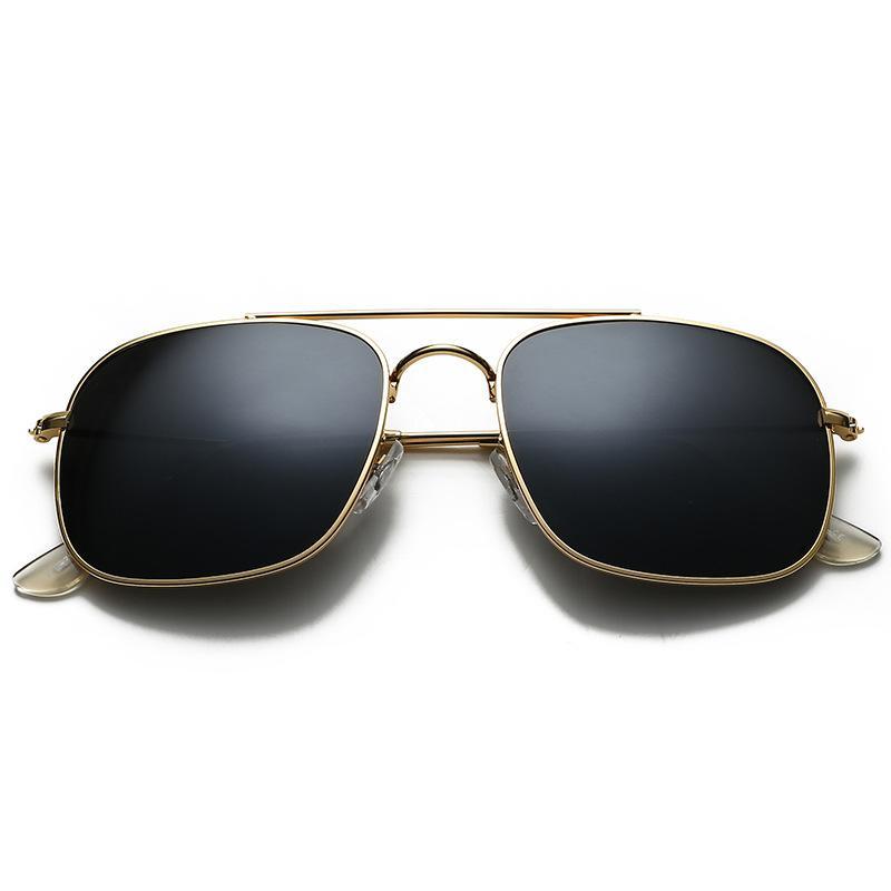 Высокое качество поляризованных стеклянных линз классические пилотные солнцезащитные очки мужчины женщины праздничная мода солнцезащитные очки с бесплатными чехлами и аксессуарами 3595