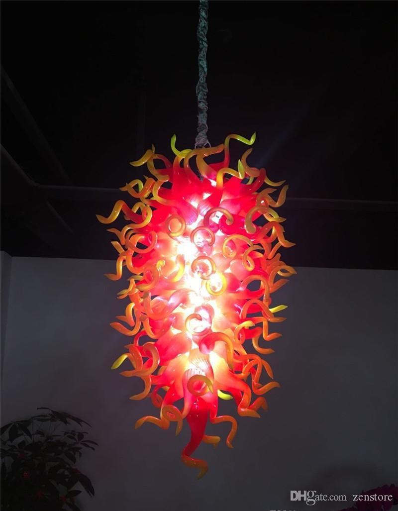 الجديدة أعلى جودة زجاج مورانو الثريا أدي زهرة تصميم اليدوية الزجاج المنفوخ قلادة الأنوار لوبي الفندق ديكور