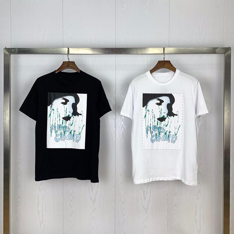 Vêtements pour hommes d'été Homme T-shirts Lettres Mode Printed Tee Rafraîchissez manches courtes T-shirts ras du cou Homme Femme Blanc Noir Tops