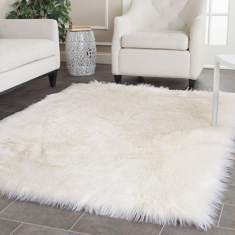 100x150CM Super macio da pele de carneiro tapete macio Fur cobrir sofá Faux carneiro tapete macio Tapete Tapete Início Piso