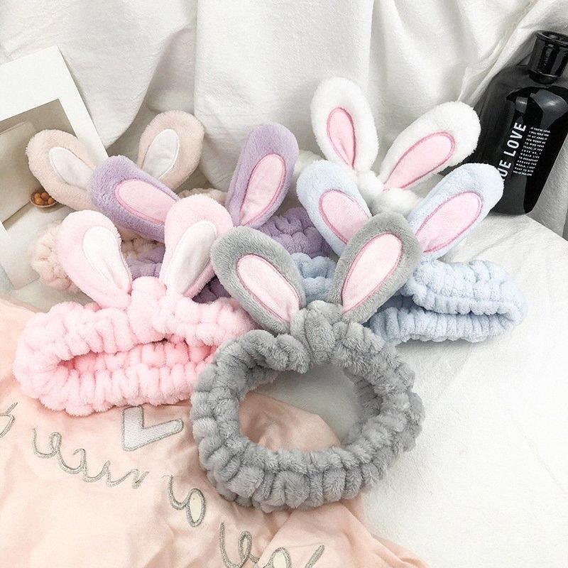 Autunno e inverno bambini coreani semplici orecchie fascia peluche di moda Sweet Girl Face Wash Accessori per capelli di promenade dei capelli Accessori per capelli dmN3 #