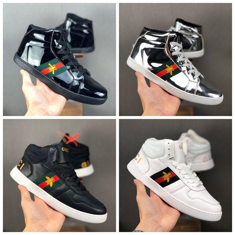 Venda quente costura abelhas de alta qualidade alta Designer Shoes Womens ECA Mens preto reflexivo Sneakers calçados casuais luxuosos