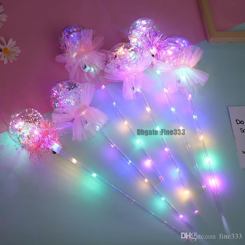 LED Bobo Işık Up Oyuncaklar Çocuklar Parti El Topu Oyuncak Glaxy Sihirli Değnek Noel Partisi Sticks Oyuncak