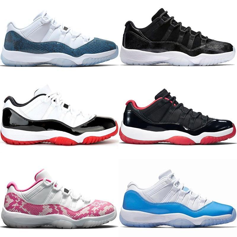 Nike air jordan retro Jumpman 11 erkek bayan basketbol ayakkabıları 11'leri Mens Eğitmenler Beyaz Bred Concord UNC Metalik Gümüş Ucuz Tasarımcı Spor Sneakers Boyut 36-47
