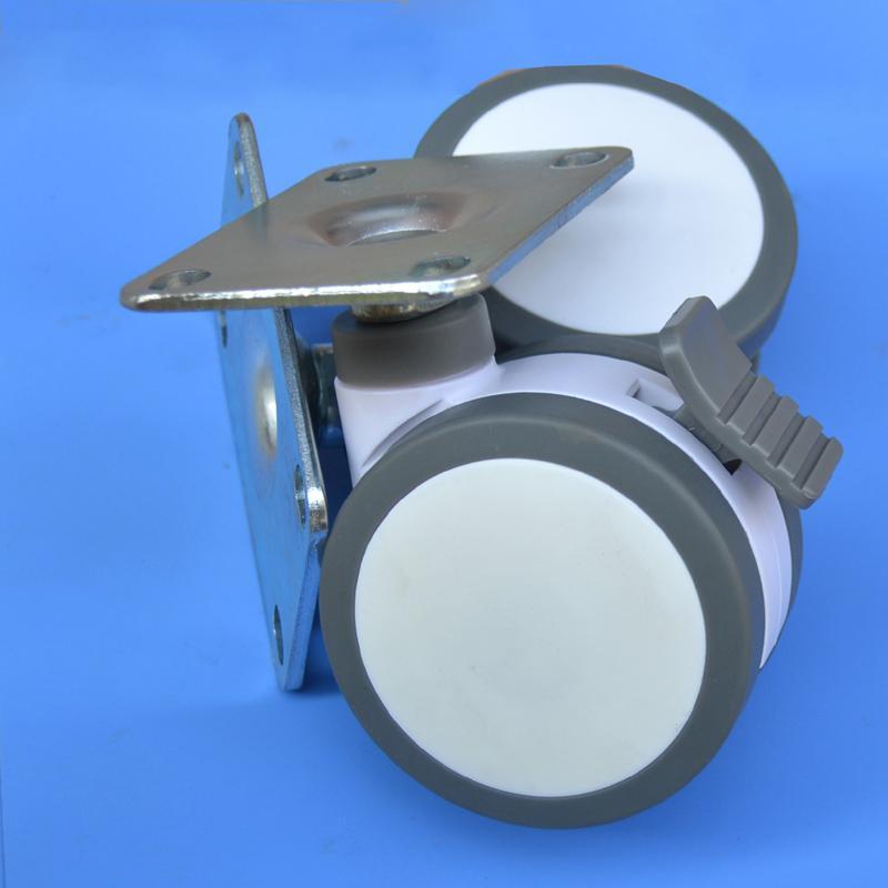 100mmフラット家具メディカルベッドキャスターフルプラスチックユニバーサル楽器チェア旋回機器ホイール