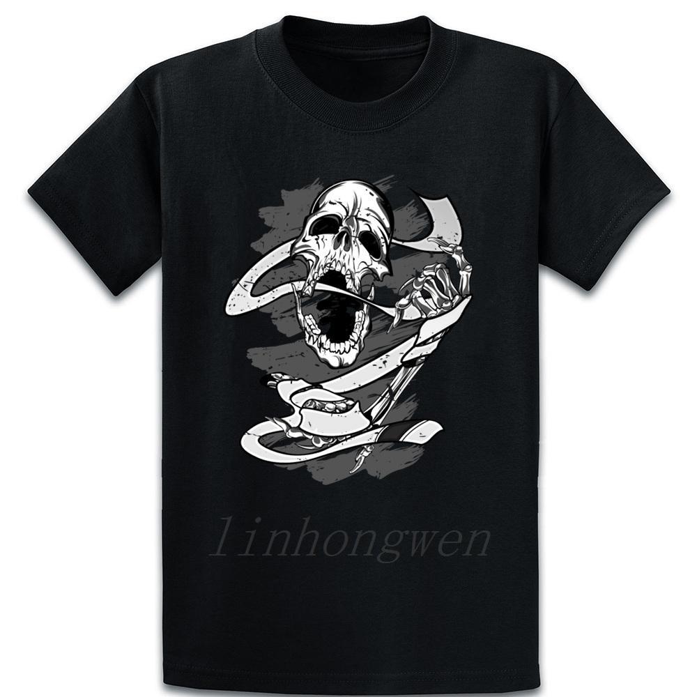 Luz Blanca Cinturón de Jiu Jitsu BJJ Jiu Jitsu cráneo camiseta de impresión Delgado Fotos resorte sobre el otoño del tamaño S-5XL camisa de algodón divertido