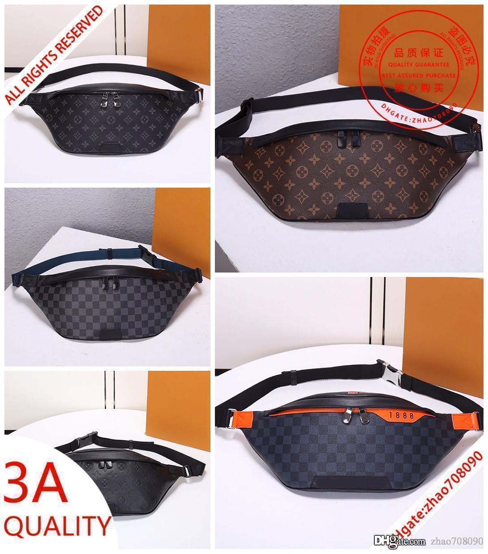 Sıcak stil 3Aquality Keşif erkekler Bel Çantaları gerçek deri Crossbody çanta omuz çantaları Çapraz Fanny Paketi Messenger çanta erkek cüzdan withbox 3A02
