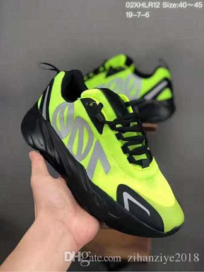 700 VX Kanye West 3M 반사 정적 디자이너 신발 남성 웨이브 러너 700 V2 실행 신발 운동화 chaussures