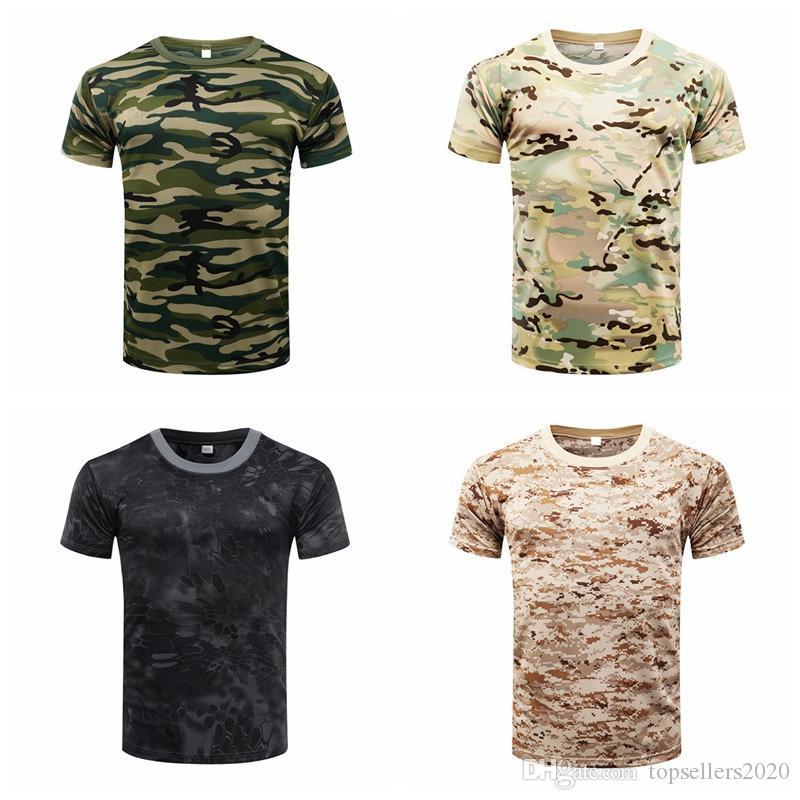 2020 Камуфляж Quick Dry дышащий Футболка Колготы Army Tactical Футболка мужская рубашка Compression Фитнес лето измерительные приборы для тела