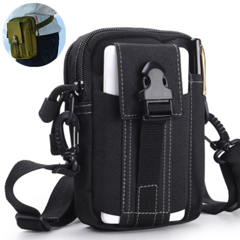 Waterproof Tactical Bag Molle Backpack Nylon Utility Sports Shoulder Bag Army Waist Pack Phone Case for Outddor Camping