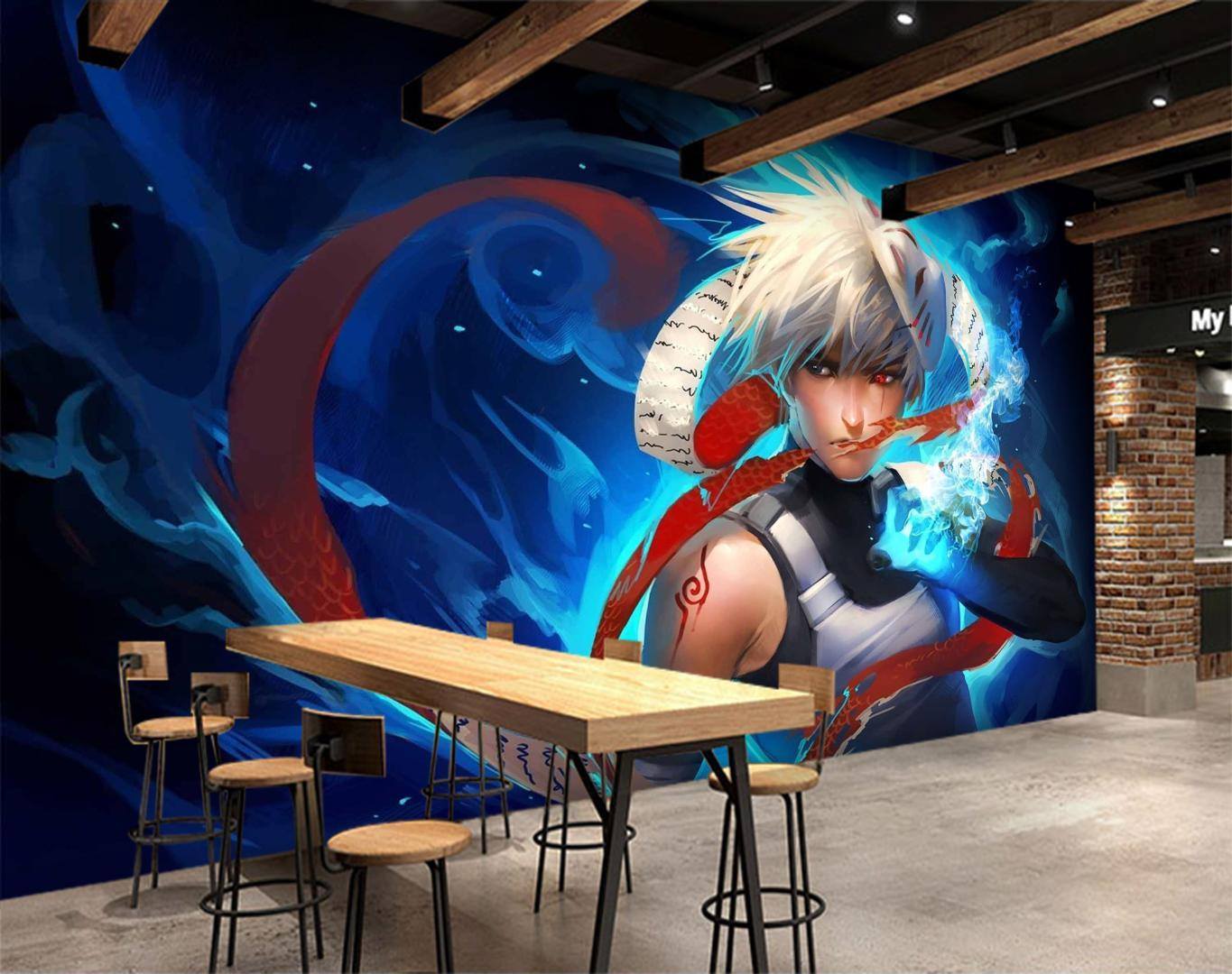 Self Adhesive 3D Naruto Japan Anime Wall Paper Mural Wall Print Decal Murals 3d Wallpaper 3d Wallpapers From Amaryllier $25 45 DHgate
