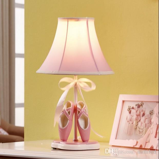 2021 Girls Room Toe Shoe Fabric Desk Lamp Cartoon Princess Room Pink Desk Lamps Kids Bedsides Table Light Llfa From Nimiled 122 72 Dhgate Com