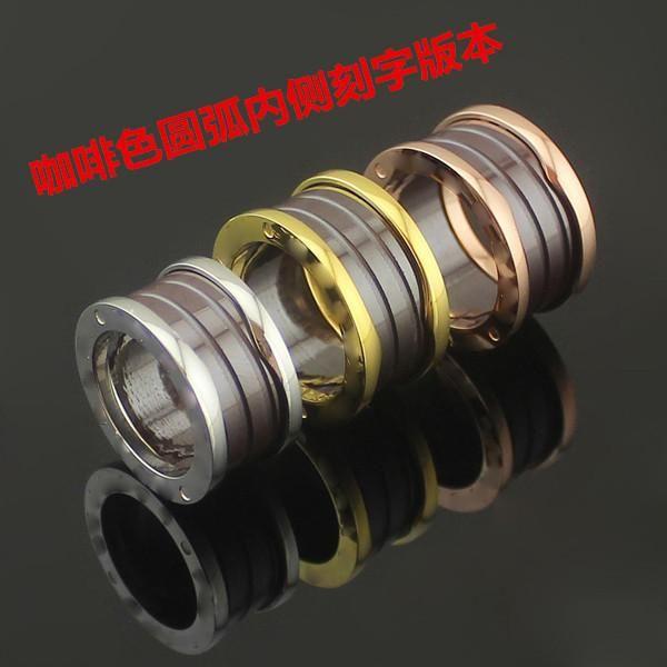 2020 Дизайнер Браун керамического Кольцо резьба Спринг Керамические кольца