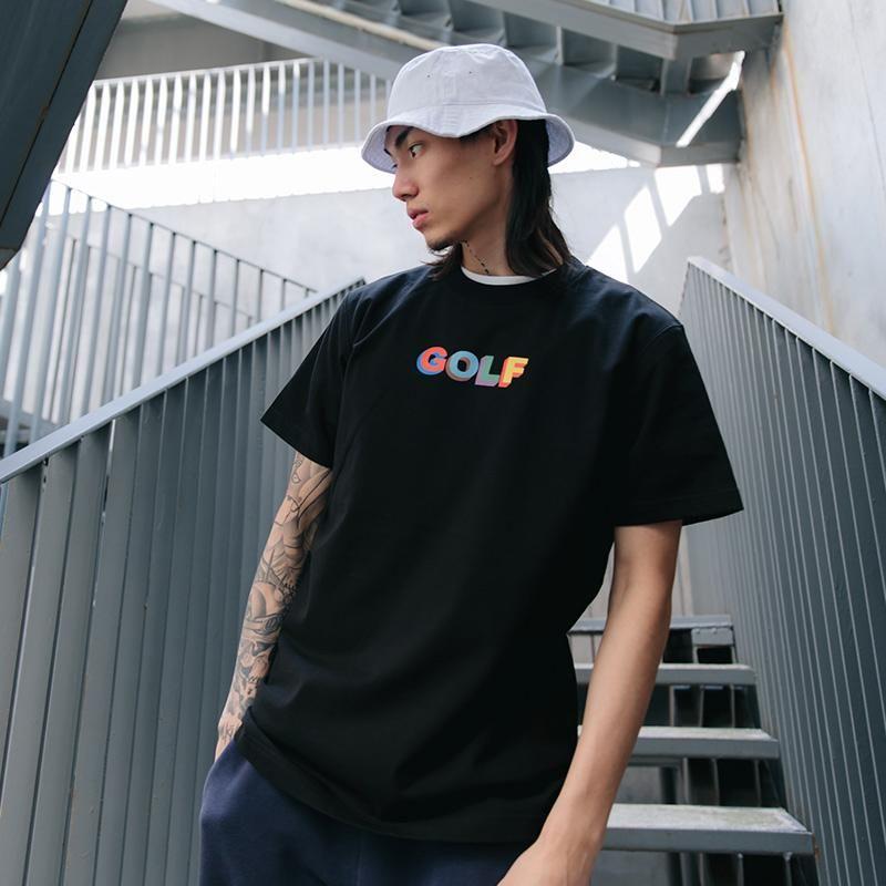 GOLF WANG MULTI COULEUR 3D LOGO T luxe décontracté solide simple à manches courtes femmes Summer Street Skateboard T-shirt HFLSTX260