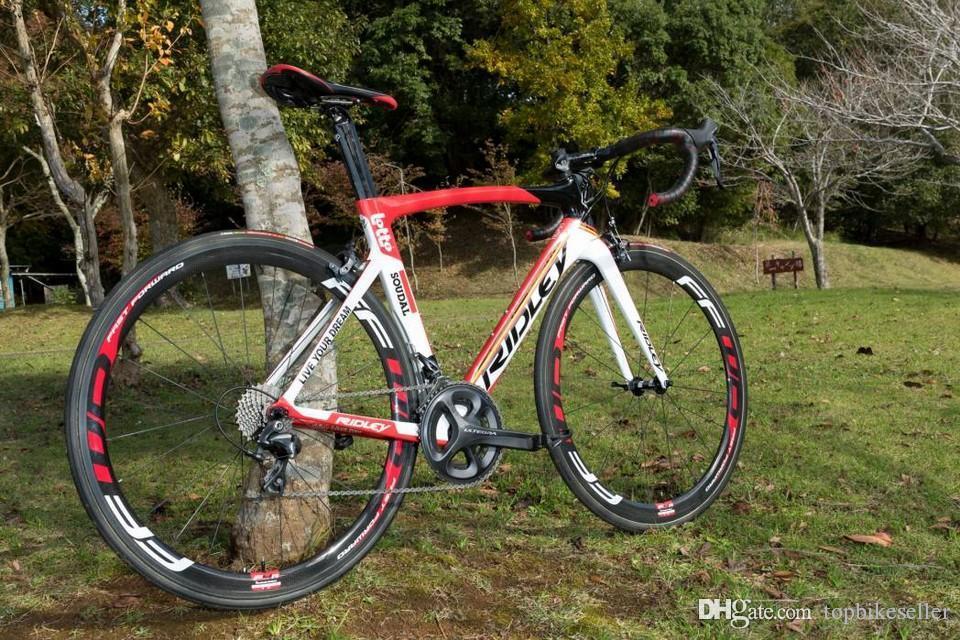 A12 LOTTO Ridley SOUDAL Carbono completa Apuramento Road Bike DIY moto com Ultegra R8000 Groupset FFWD 50MM rodado