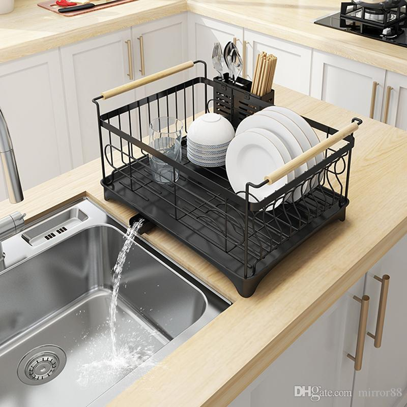 2019 Tableware Drain Shelf Kitchen Stainless Steel Sink Dish Drying Rack  Household Kitchen Multi Use Storage Holder Tableware Collection Shelf From  ...