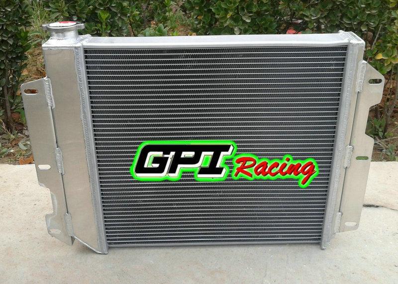 For 87-02 Jeep Wrangler YJ /& TJ w// Chevy V8 4 Rows Aluminum Radiator 2 × fans
