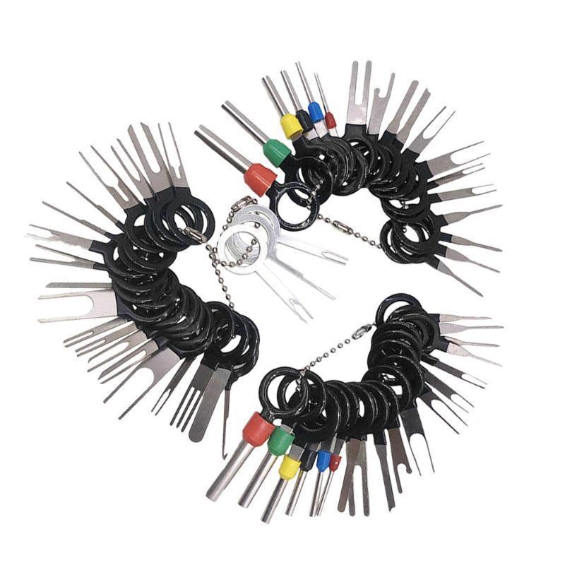 La eliminación del coche 59pcs terminal del cable conector Pin Extractor Extractor Herramienta de reparación de neumáticos