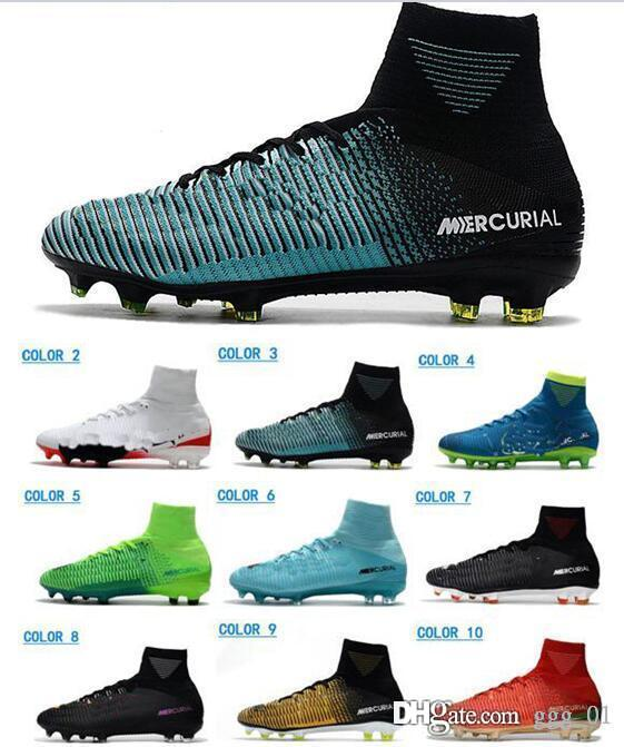 2019 Men ACC Mercurial Superfly V CR7 FG Cristiano Ronaldo Soccer Shoes High Quality Football Shoes Mens Soccer Cleats Soccer Boots