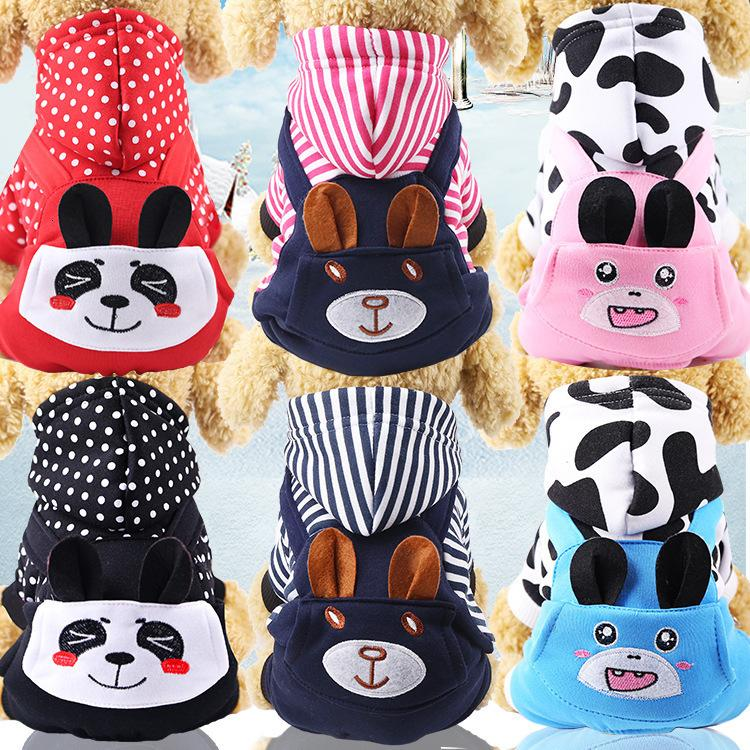 Cartoon Dogs Clothes Autumn Winter Jacket for Dog Cat Warm Puppy Jumpsuit Pet Apparels Supplies Wholesale Dropshipping